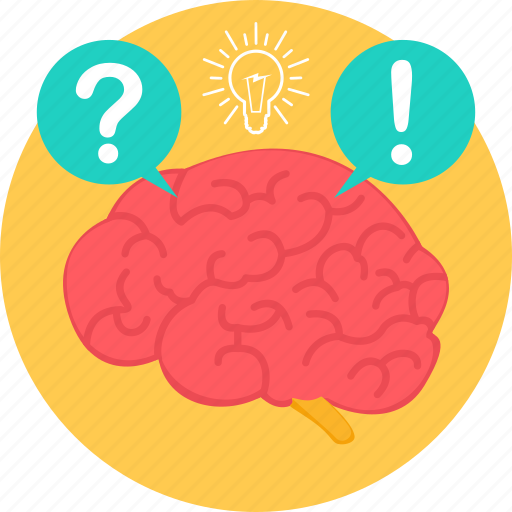 brain, faq, help, idea, question, questions, support icon