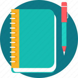 book, education, learning, notebook, notepad, notes, study icon