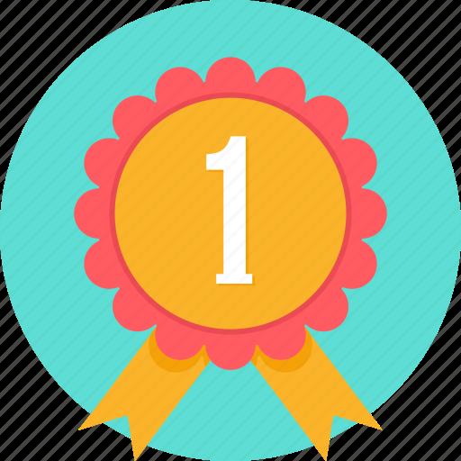 badge, medal, no 1, no1, rank, reward, winner icon