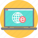 education, elearning, internet, laptop, learning, online, study icon