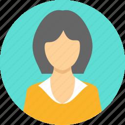 avatar, gesture, girl, student, teacher, user, woman icon
