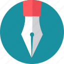 draw, drawing, nib, pen, pens, write, writing icon