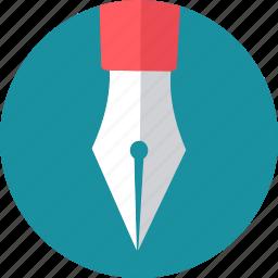 draw, drawing, nib, pen, pens, write, writing icon