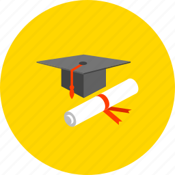 certificate, degree, diploma, document, education, graduate, knowledge icon