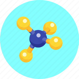 atom, chemical, dna, genetics, molecule, science, structure icon