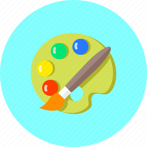 art, color, design, drawing, paint, painting, tools icon