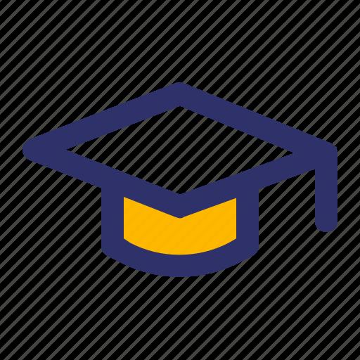 Education, elements, graduation, hat, line icon - Download on Iconfinder