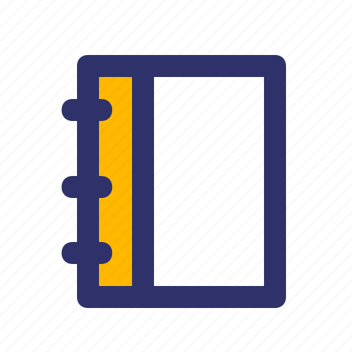 Education, elements, line, notebook icon - Download on Iconfinder