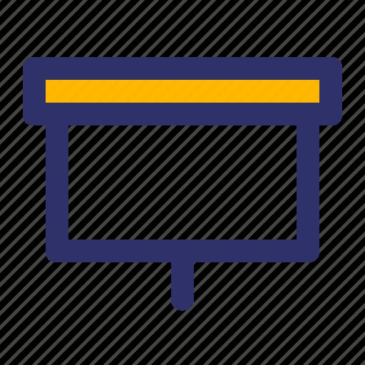 education, elements, line, presentation icon