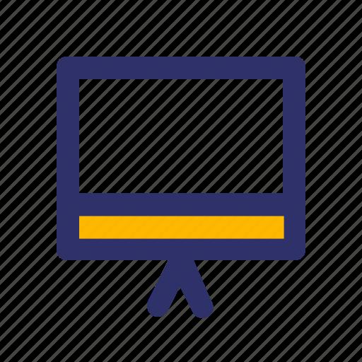 Board, education, elements, line, presentation icon - Download on Iconfinder