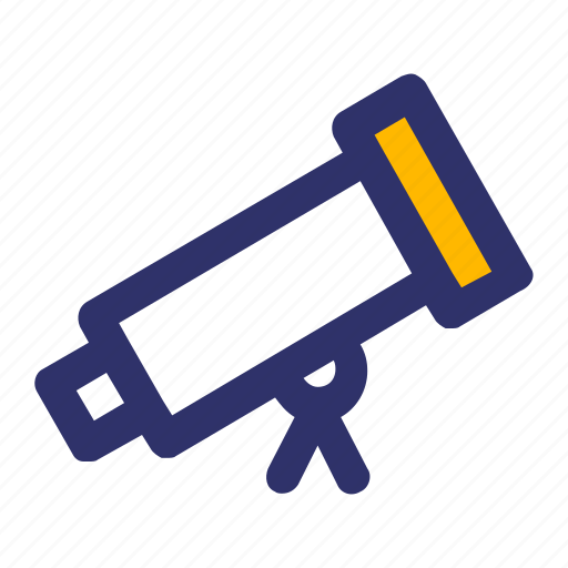 Education, elements, line, telescope icon - Download on Iconfinder