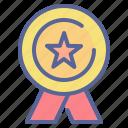 ribbon, winner, champion, award, medal, honor, achievement