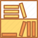 education, learn, library, science, student, study icon