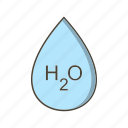 drop, droplet, h20, water icon