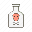 chemical, flask, toxic icon