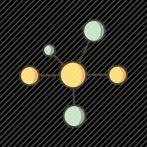 atom, bonding, electron, molecule icon