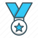 award, medal, medallion, winner icon
