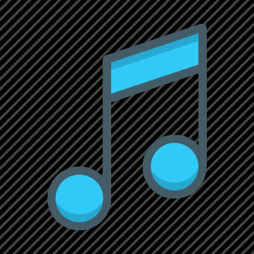 audio, music, notation, sound icon