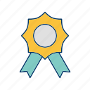 badge, prize, ribbon icon
