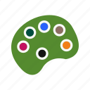 color pallete, paint, painting, pallete icon