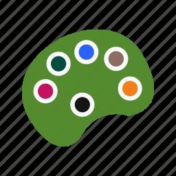 color pallete, paint, painting, pallete icon