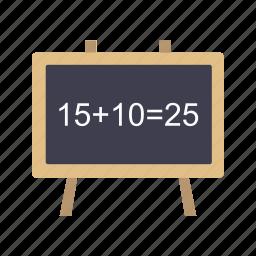 blackboard, chalkboard, education, presentation, school icon