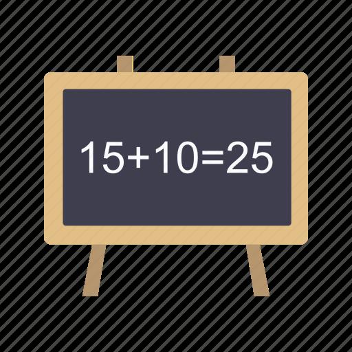 black board, calculation, math, mathematics icon