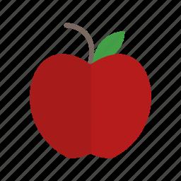 apple, education, fruit icon