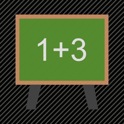 black board, calculation, mathematics icon