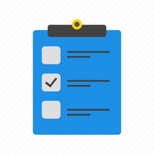 check list, document, list icon