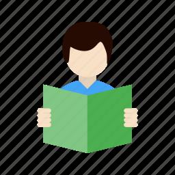 reading, student, study icon