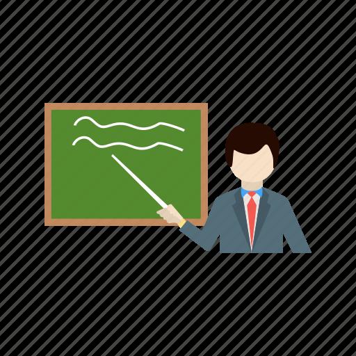 education, presentation, teaching, white board icon