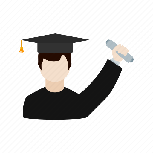 certification, diploma, getting degree icon