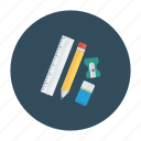 art, design, drawing, graphic, illustrator, ruler, writing icon