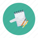 document, note, notebook, notepad, notes, page, sketchbook icon