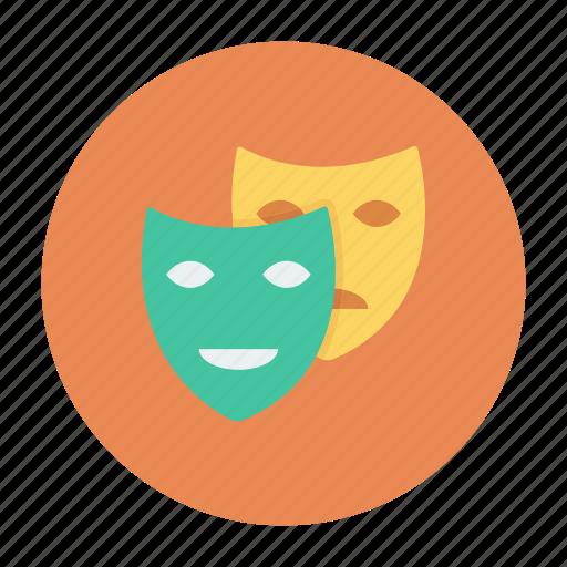 cinema, drama, mask, masks, sad, theater icon