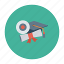 certificate, diploma, ebook, education, learn, physics, science icon