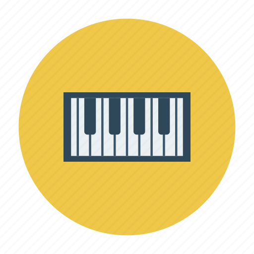 electronic, instrument, keyboard, multimedia, music, piano, play icon