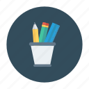 jar, office, pencilbox, pencilcase, stationery, tool icon