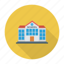 architecture, building, classroom, college, education, school, university icon