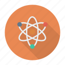 atom, chemistry, laboratory, physics, proton, research, science icon