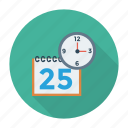 calendar, clock, date, events, month, schedule, time icon