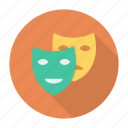 cinema, compressor, drama, mask, masks, sad, theater icon