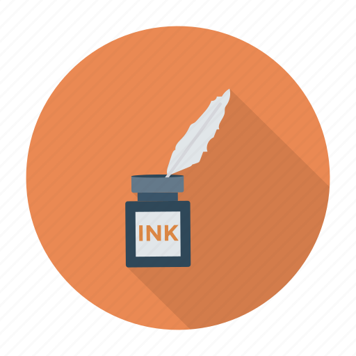 feather, ink, inkpot, office, pen, write, writing icon