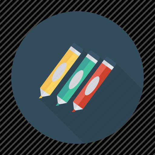 education, highlightmarker, mapmarker, marker, orange, stationery, write icon