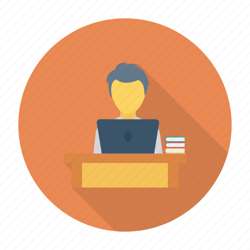 education, library, presentation, reading, student, study, work icon