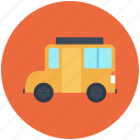 bus, school bus, school icon, transport, van icon