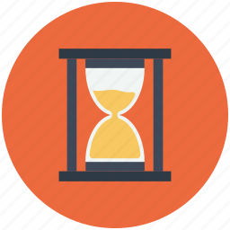 clock, glass, hour, hourglass, sand, sandglass, timer icon icon