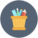 pen box, pencil container, pencil holder, pencil jar, stationery icon icon