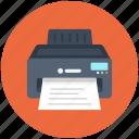 device, electronic, fax, print, printer icon